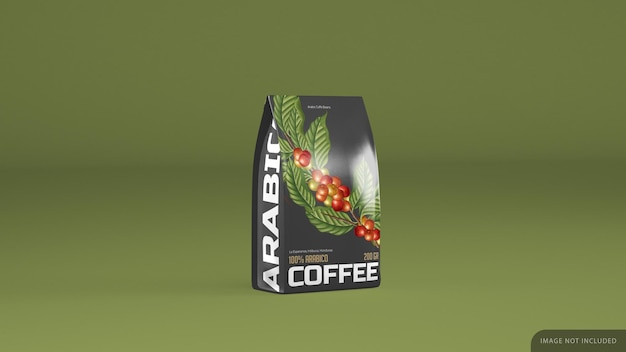 Makieta na białym tle opakowanie kawy