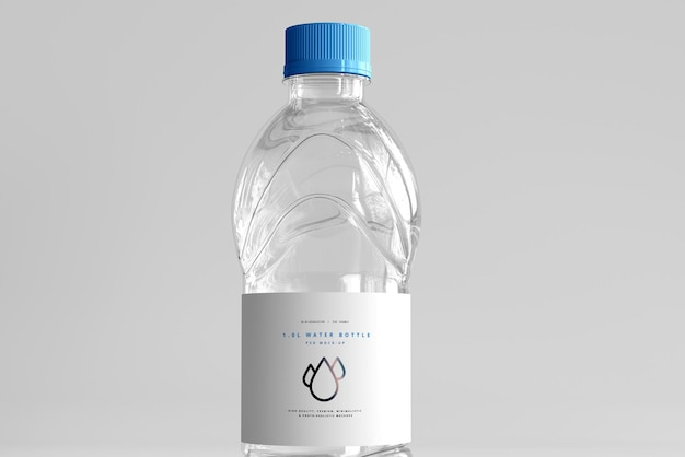 Makieta na butelkę świeżej wody o pojemności 1,0 l