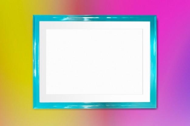 Makieta niebieskiej ramki na zdjęcia