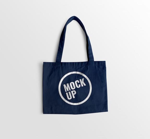 Makieta niebieskiej torby z dżerseju
