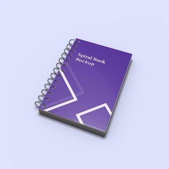 Makieta notatnika spiralnego dla brandingu i tożsamości