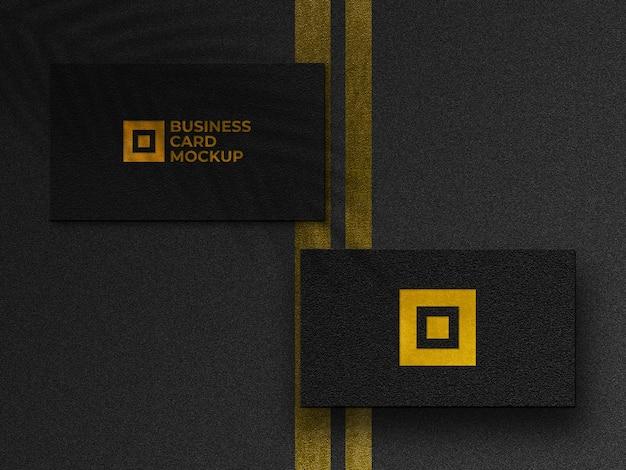 Makieta nowoczesne złote wizytówki