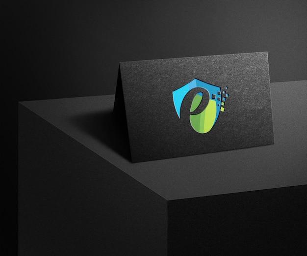 Makieta nowoczesnego i luksusowego logo