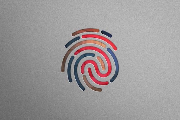 Makieta nowoczesnego logo - logo palca