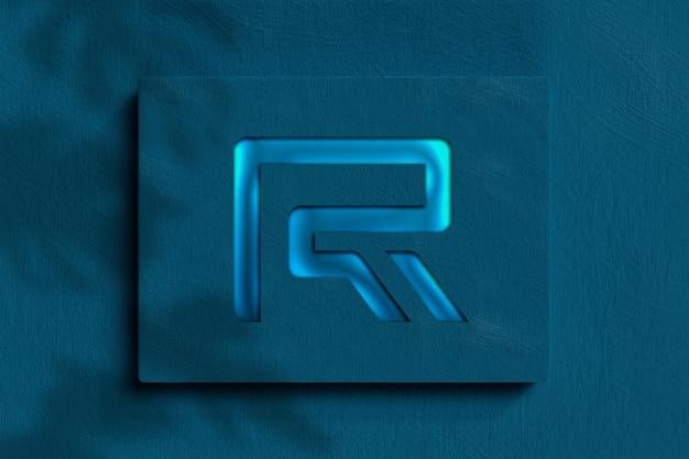 Makieta nowoczesnego logo