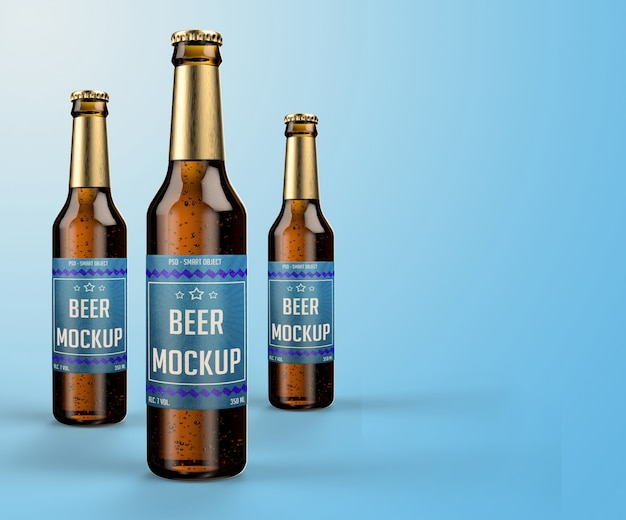 Makieta nowoczesnego projektu butelki piwa