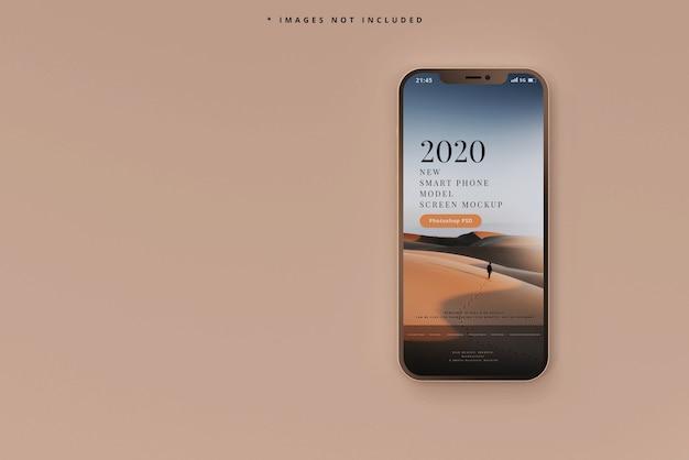 Makieta nowoczesnego smartfona