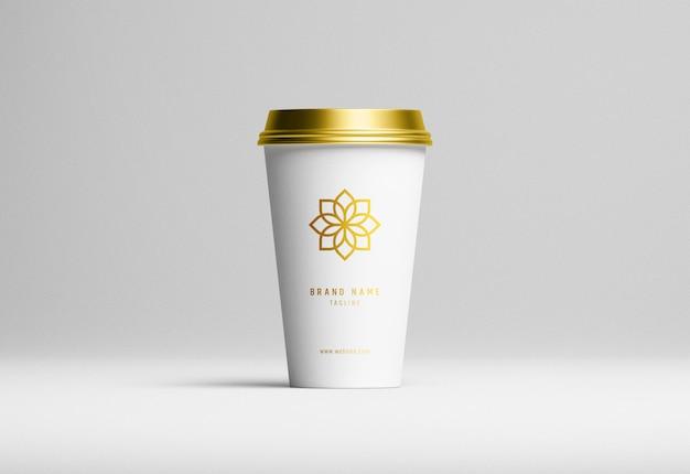Makieta nowoczesnej papierowej filiżanki do kawy