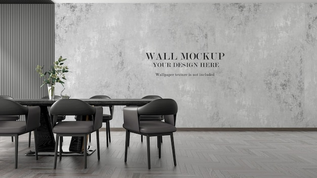 Makieta nowoczesnej ściany salonu renderowania 3d