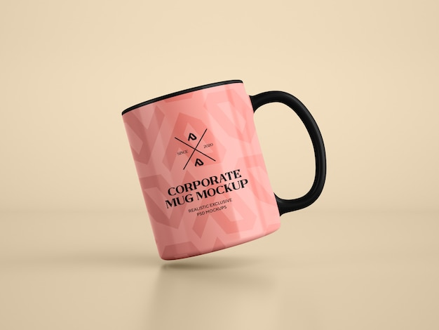 Makieta nowoczesny kubek kawy