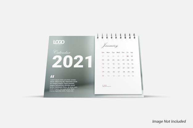 Makieta nowoczesny minimalistyczny kalendarz na białym tle