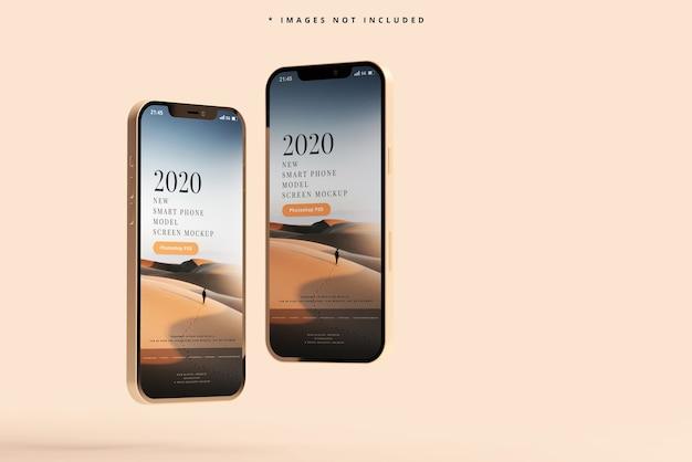 Makieta nowoczesnych smartfonów
