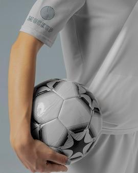 Makieta odzieży kobiecej piłki nożnej