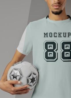 Makieta odzieży męskiej piłki nożnej