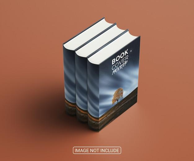 Makieta okładki książek minimalistycznych pod wysokim kątem
