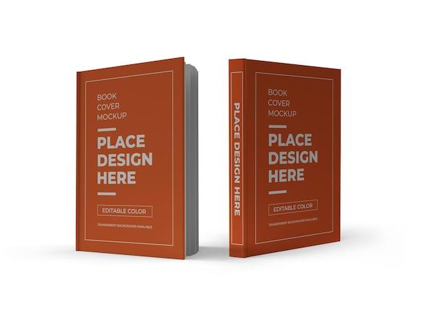 Makieta okładki książki 3d na białym tle