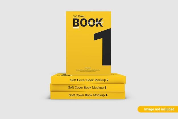 Makieta okładki książki na białym tle