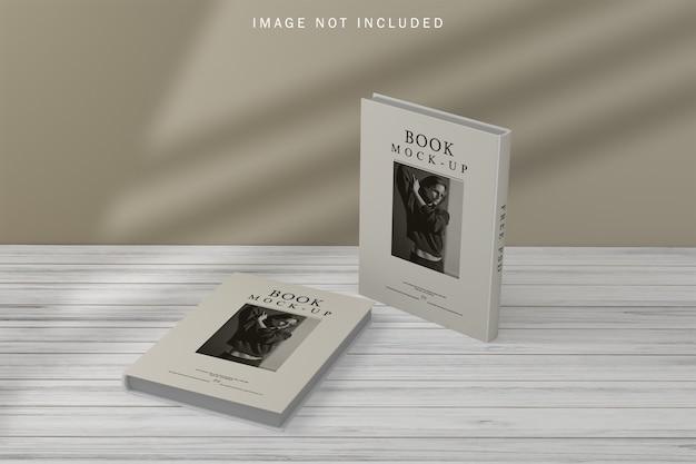 Makieta okładki książki z nakładką cienia