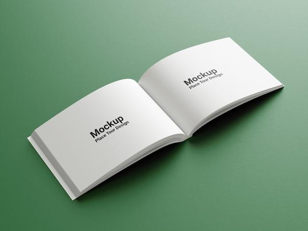 Makieta okładki książki z widokiem z boku