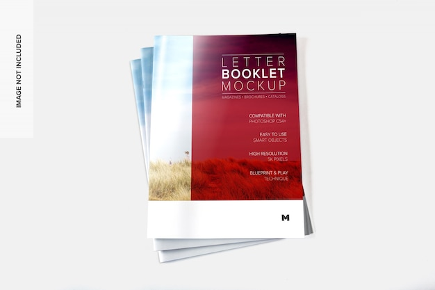 Makieta okładki stosu broszur listowych 02