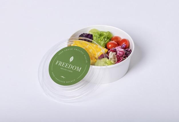 Makieta okrągłego pudełka na jedzenie na wynos