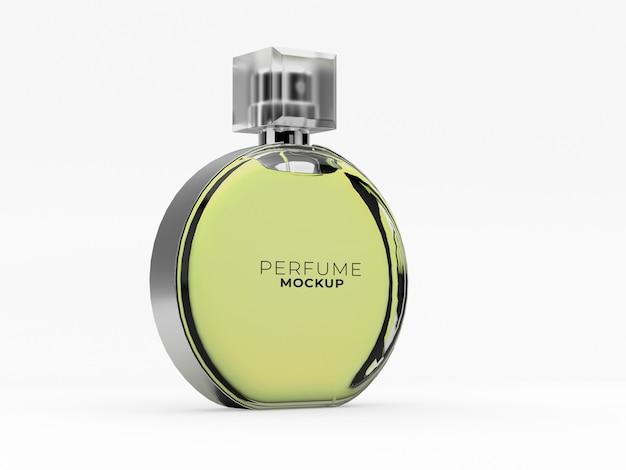 Makieta okrągłej szklanej butelki perfum