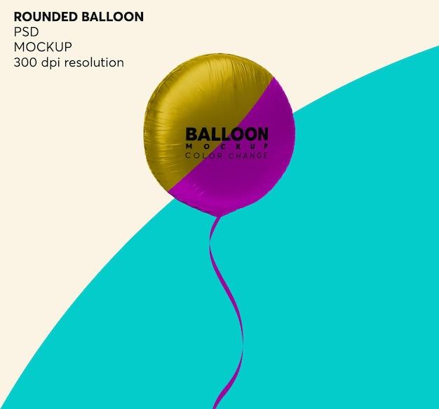 Makieta okrągły balon helowy na białym tle