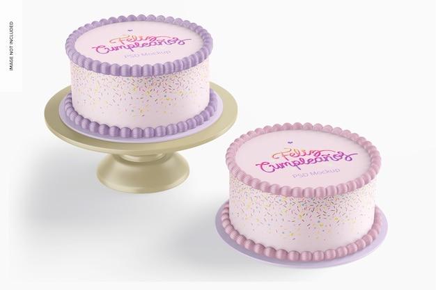 Makieta okrągłych ciast