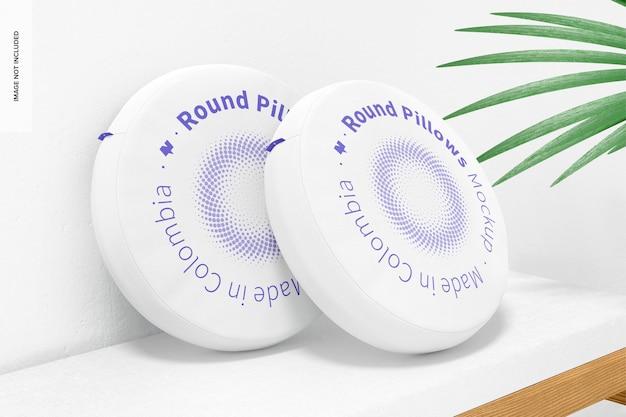 Makieta okrągłych poduszek, perspektywa