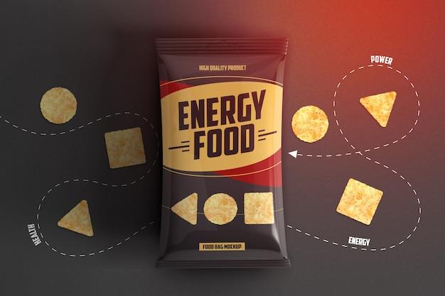 Makieta opakowania chrupiące chipsy