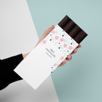 Makieta opakowania czekolady