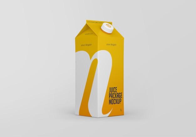Makieta opakowania kartonowego soku matowego