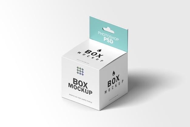 Makieta opakowania kwadratowego pudełka