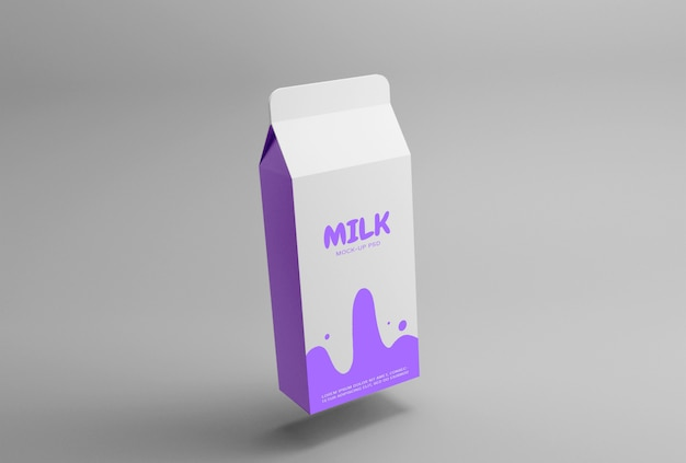 Makieta opakowania na mleko premium psd