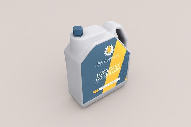 Makieta opakowania plastikowej butelki oleju silnikowego