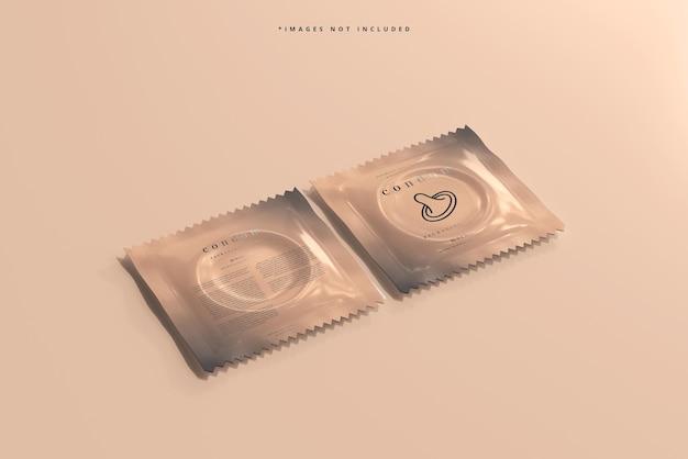 Makieta opakowania prezerwatyw
