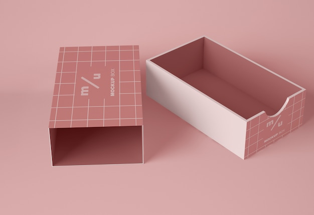 Makieta otwartego pudełka