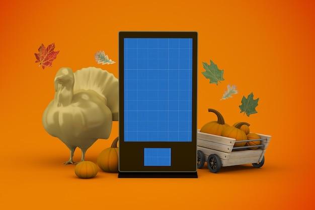 Makieta oznakowania dziękczynienia