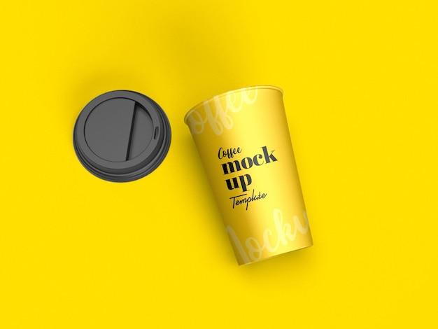 Makieta papierowego kubka do kawy