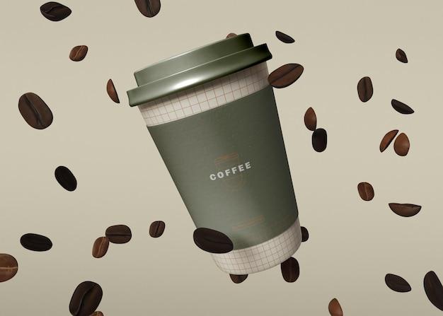 Makieta papierowej filiżanki kawy