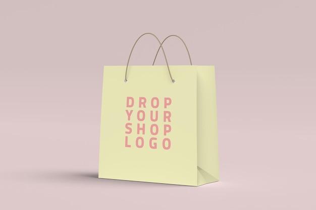 Makieta papierowej torby na zakupy