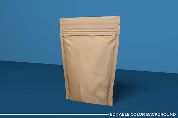 Makieta papierowej torebki na żywność