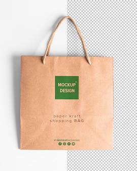 Makieta papierowych toreb na zakupy z liną