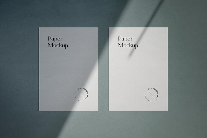Makieta papieru a4 z nakładką cienia