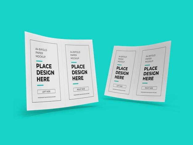 Makieta papieru broszurowego bifold