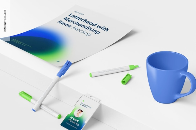 Makieta papieru firmowego i towarów promocyjnych