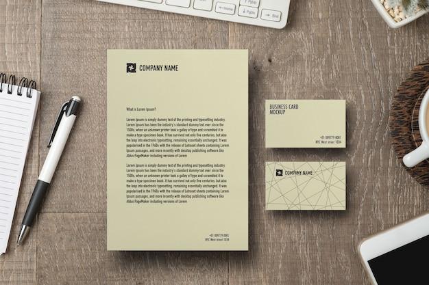 Makieta papieru i wizytówek