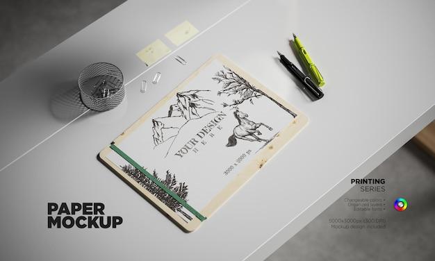 Makieta papieru w renderowaniu 3d