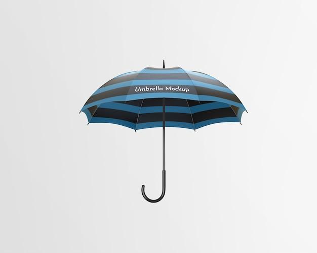Makieta parasol na białym tle