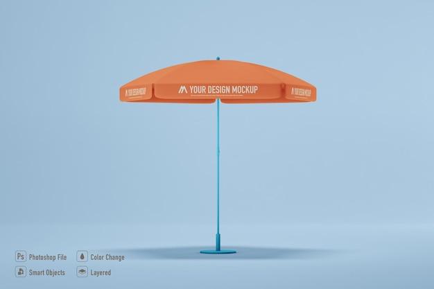 Makieta parasola na białym tle
